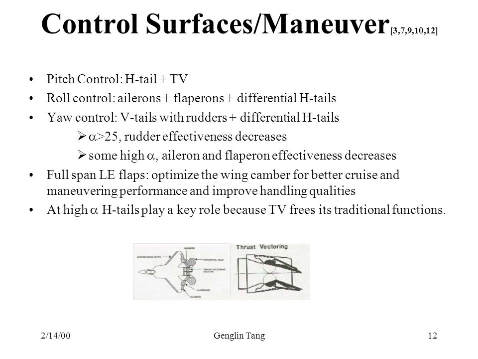 Control Surfaces/Maneuver[3,7,9,10,12]